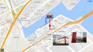 コベヨガ神戸浜スタジオの地図・案内図・写真・エアリアルヨガ(空中ハンモックヨガ・神戸京都大阪)スタジオの写真
